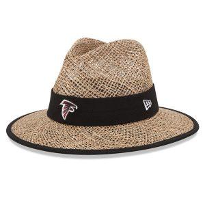 Men's Atlanta Falcons New Era Natural On-Field Training Camp Straw Hat