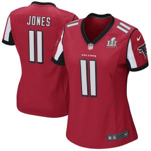 Women's Atlanta Falcons Julio Jones Nike Red Super Bowl LI Bound Game Jersey